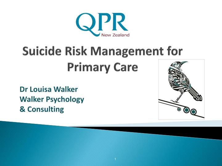 PPT - Suicide Risk Management for Primary Care PowerPoint ...