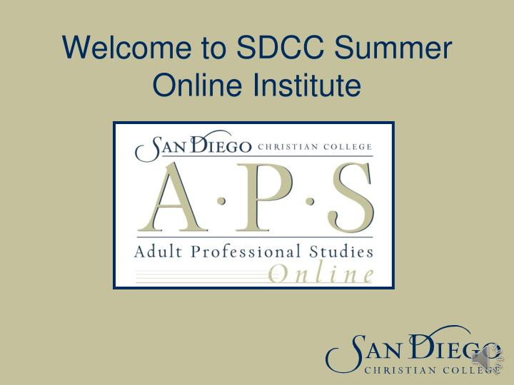 welcome to sdcc summer online institute n.