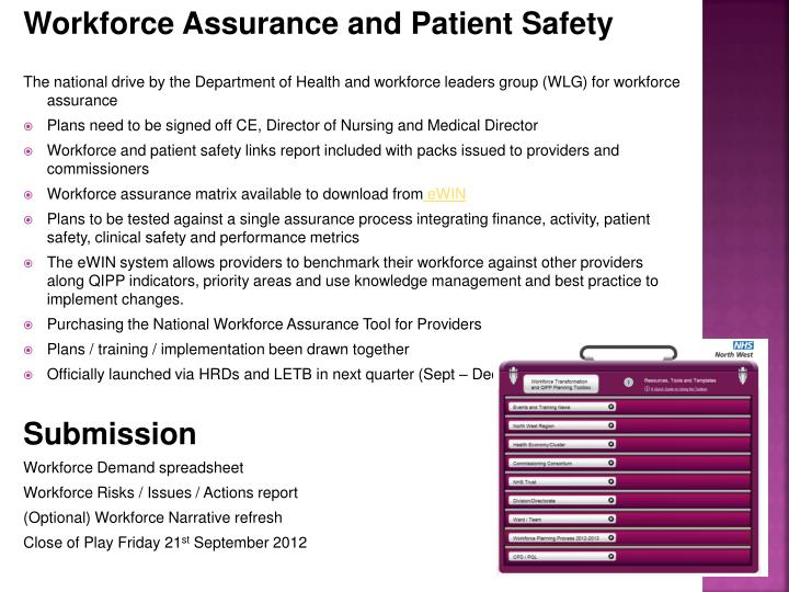 Workforce Assurance and Patient Safety