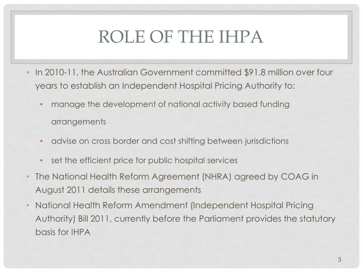 Ppt Towards An Abf Pricing Framework And A National Efficient