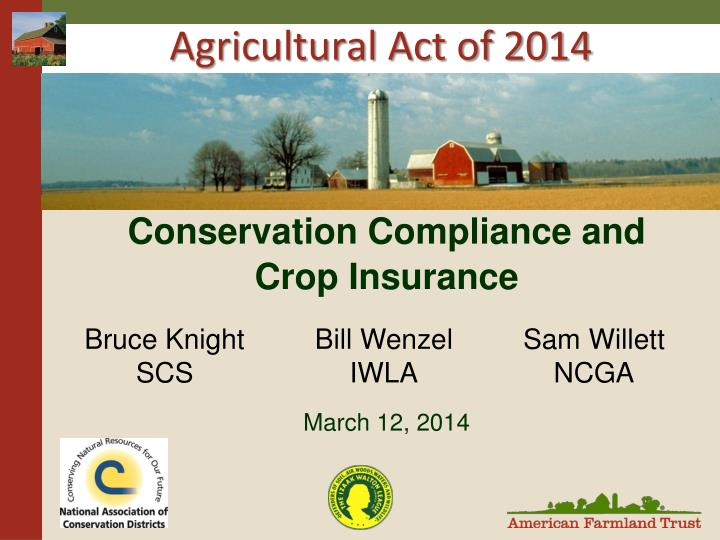 agricultural act of 2014 n.