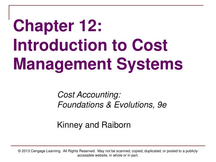 introduction to cost control Costs of a non-alcoholic nature are considered an expense in the food costs category alcoholic beverages accounted for in the beverage costs in most operations, labor costs are second only to food costs in total dollars spent overhead costs include all expenses that are neither food, beverage.