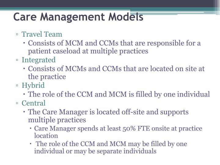 Care Management Models
