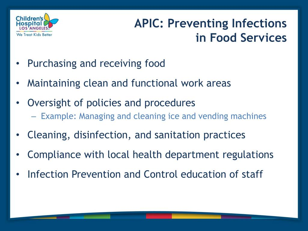 PPT - Infection Control Assessment and Oversight of Food Services at