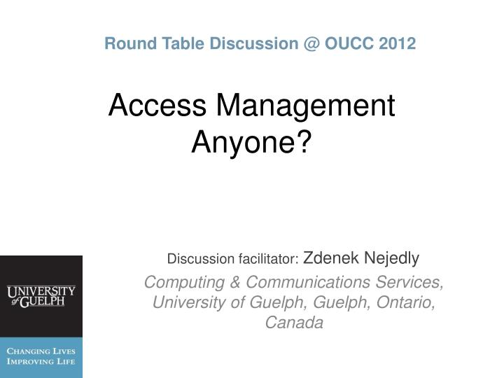 access management anyone n.