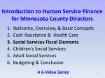 introduction to human service finance for minnesota county directors1