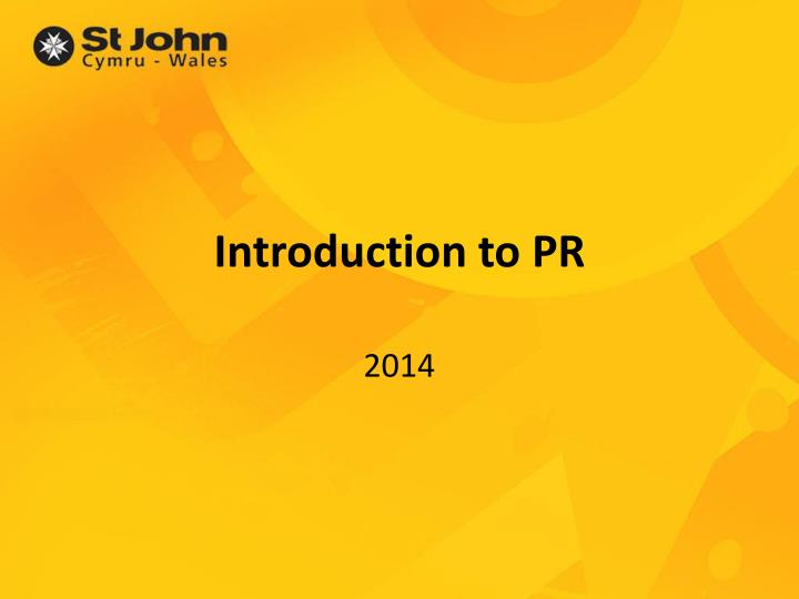 introduction to pr n.