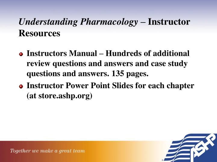 Understanding Pharmacology –