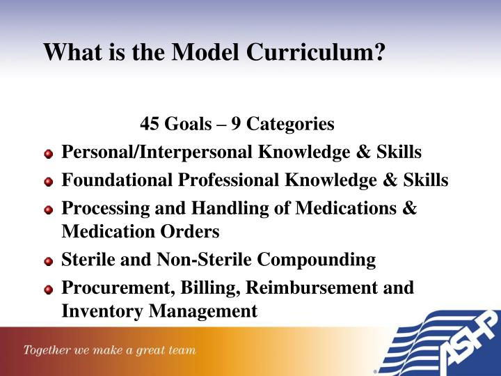 What is the Model Curriculum?