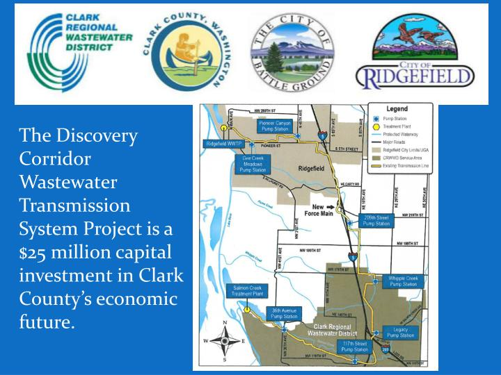 The Discovery Corridor Wastewater Transmission System Project is a $25 million capital investment in Clark County's economic future.