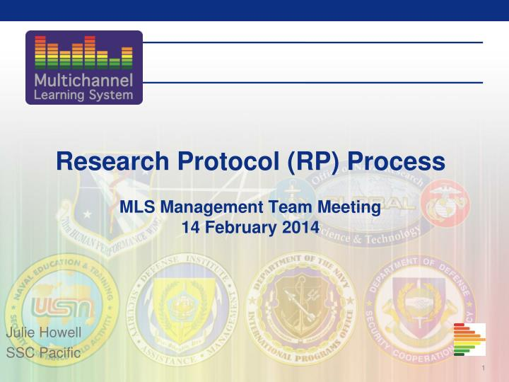 research protocol rp process mls management team meeting 14 february 2014 n.