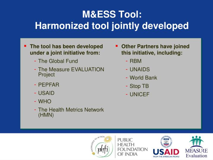 The tool has been developed under a joint initiative from: