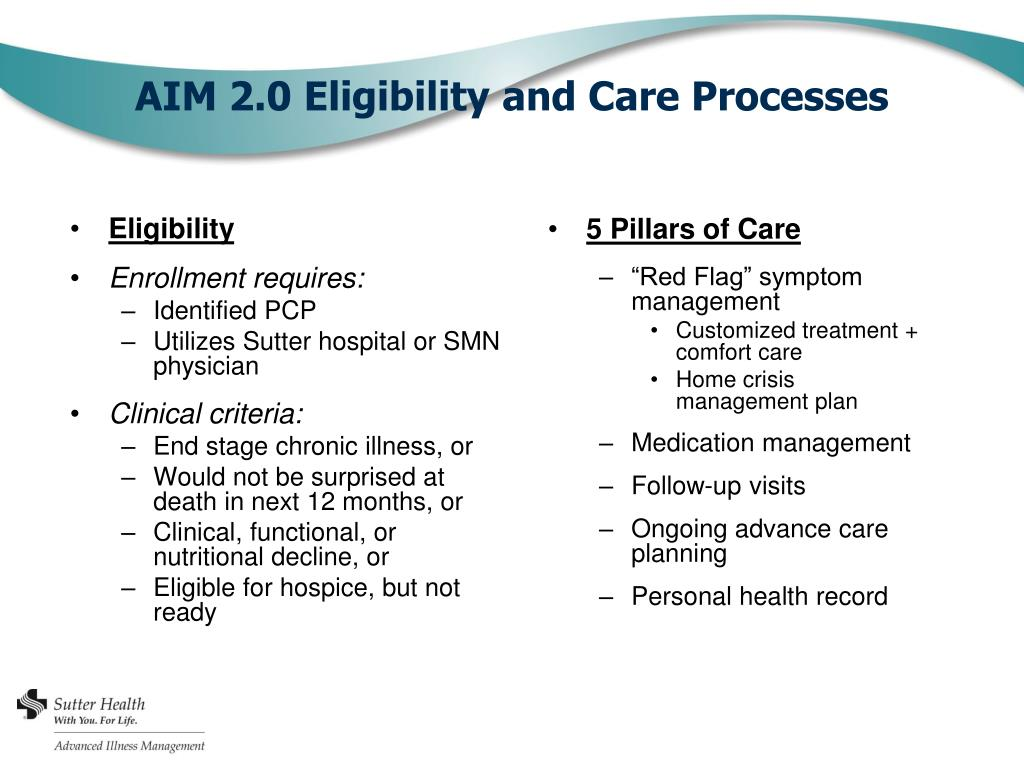 PPT - Advanced Illness Management Sutter Health PowerPoint