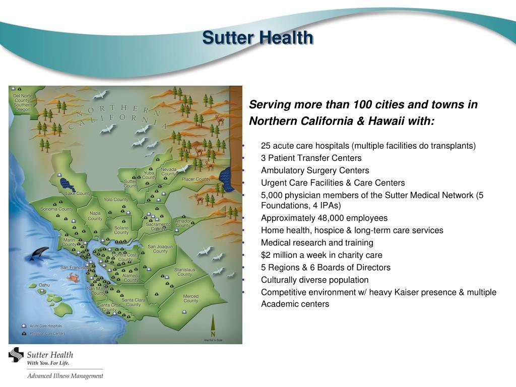 PPT - Advanced Illness Management Sutter Health PowerPoint