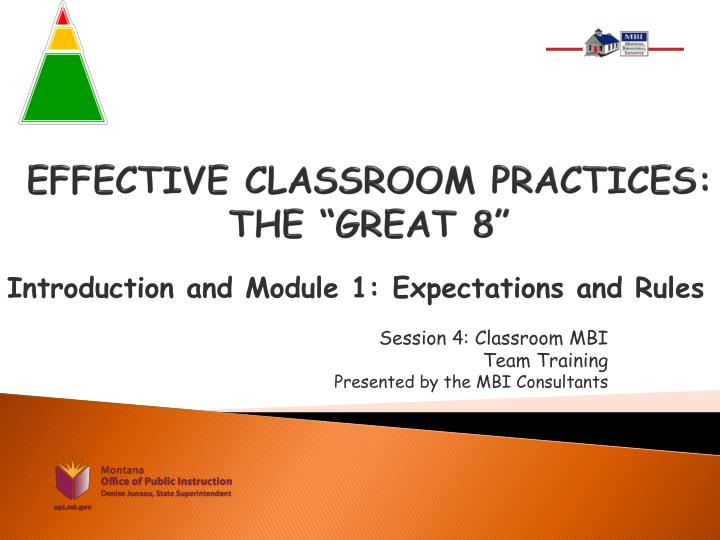 effective classroom practices the great 8 n.