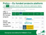 policy eu funded projects platform
