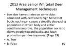 2013 area senior whitetail deer management techniques6