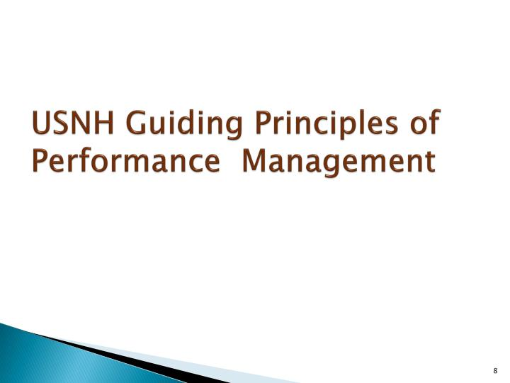 USNH Guiding Principles of Performance  Management