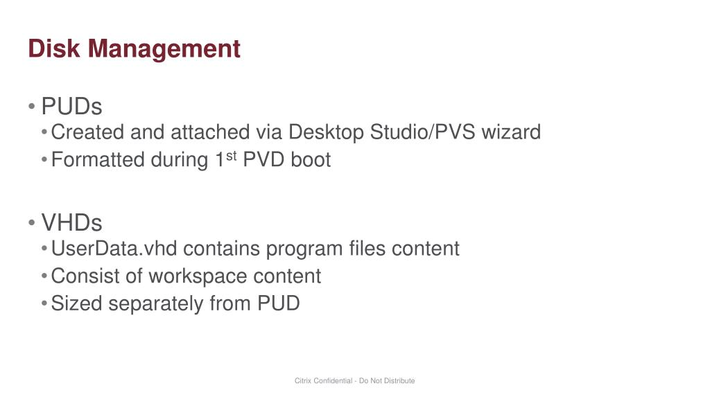 PPT - Personal vDisk Architecture and Design PowerPoint