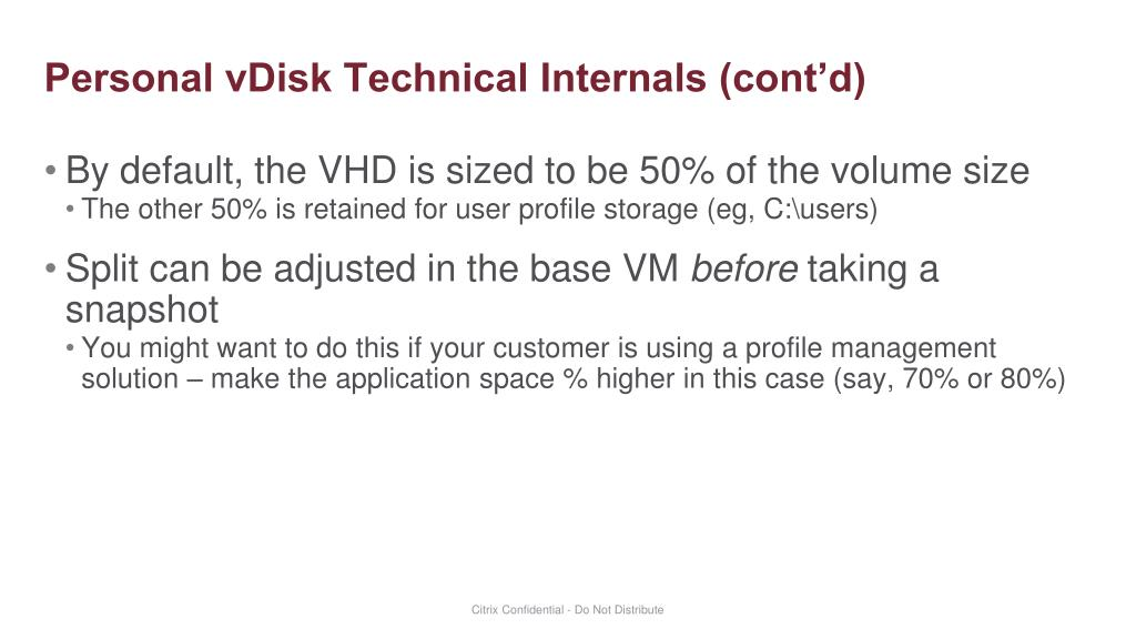 PPT - Personal vDisk Architecture and Design PowerPoint Presentation