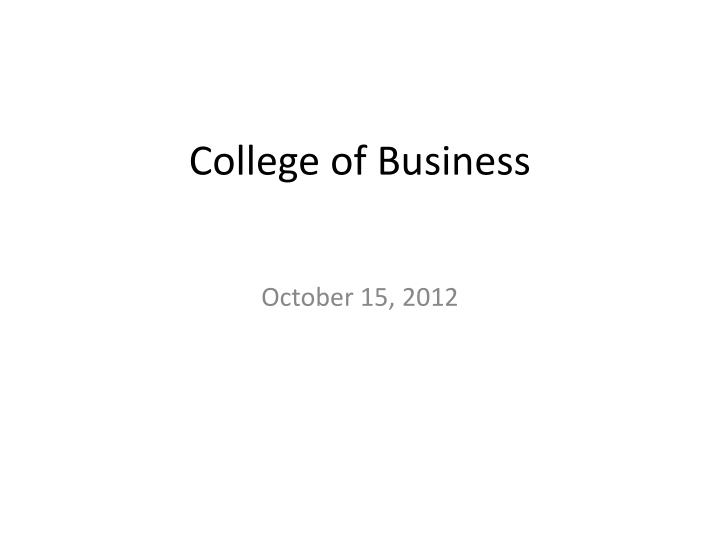 college of business n.