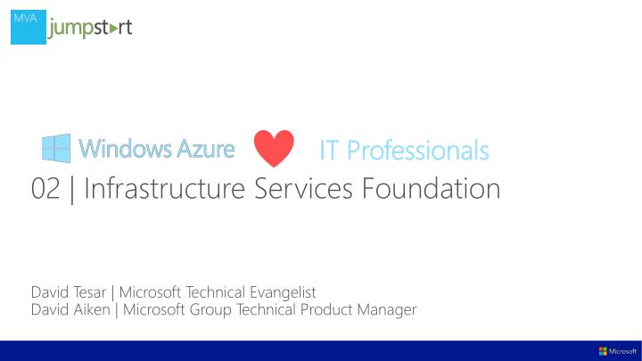 david tesar microsoft technical evangelist david aiken microsoft group technical product manager n.