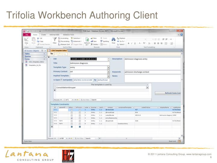 Trifolia Workbench Authoring Client