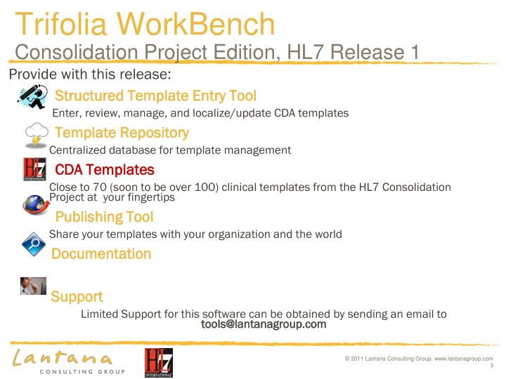 Trifolia workbench consolidation project edition hl7 release 1