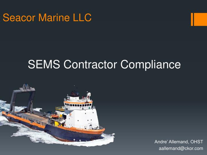sems contractor compliance n.