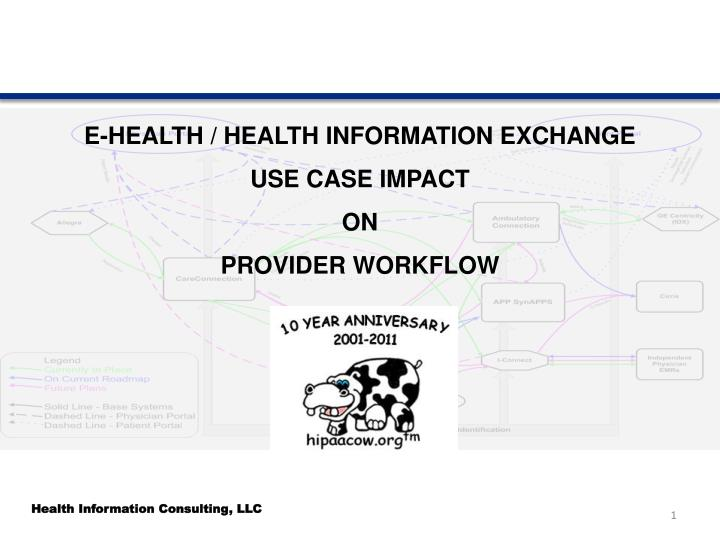 e health health information exchange use case impact on provider workflow n.