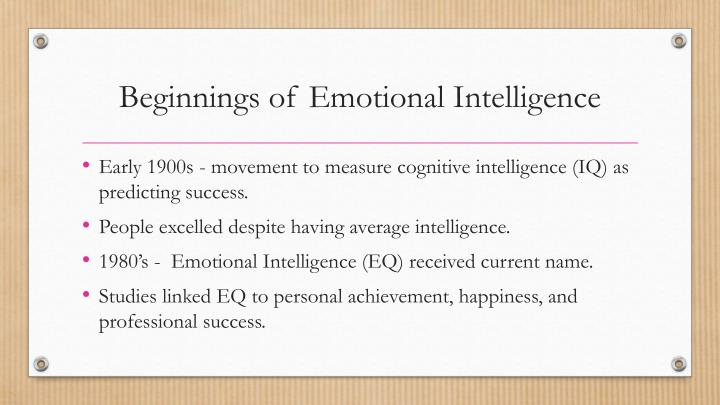 cognitive intelligence and emotional intelligence in the Emotional intelligence master the strategies to improve your emotional intelligence, build self-confidence, and find long lasting success there are two kinds of intelligence - emotional and intellectual - which also express different parts of the brain's activity.