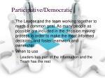 participative democratic