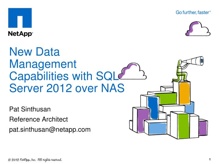 new data management capabilities with sql server 2012 over nas n.