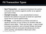 fx transaction types