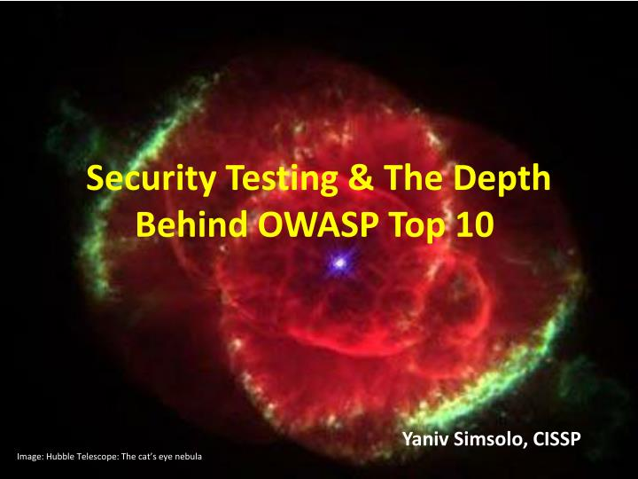 Security testing the depth behind owasp top 10