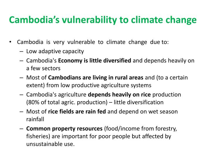 Cambodia s vulnerability to climate change