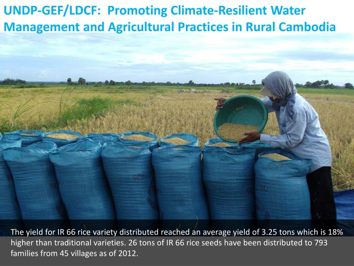 UNDP-GEF/LDCF:  Promoting Climate-Resilient Water Management and Agricultural Practices in Rural Cambodia