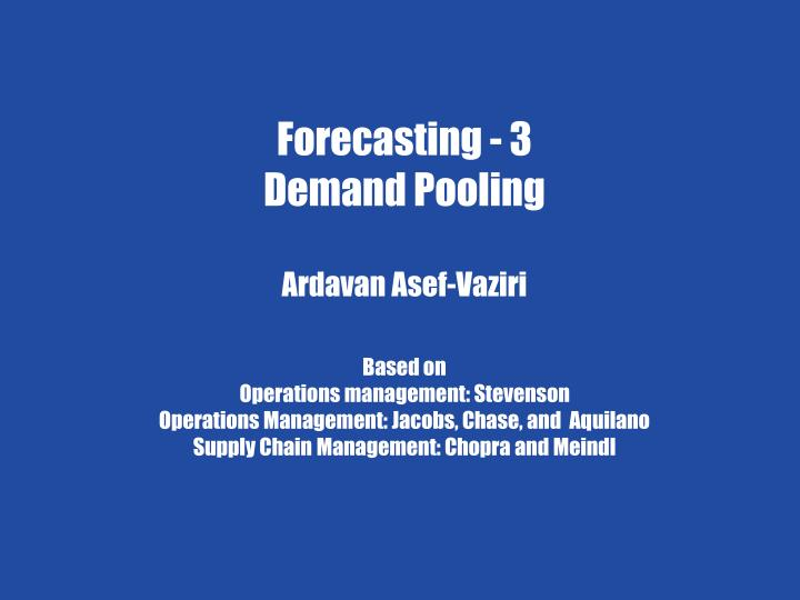 chapter 7 demand forecasting in a supply chain n.