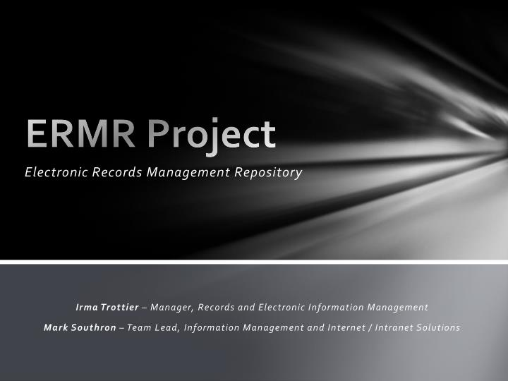 ermr project n.