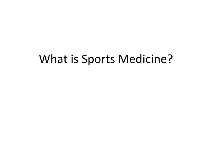 what is sports medicine n.