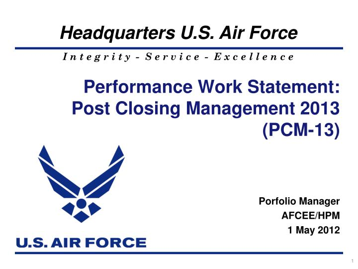 performance work statement post closing management 2013 pcm 13 n.