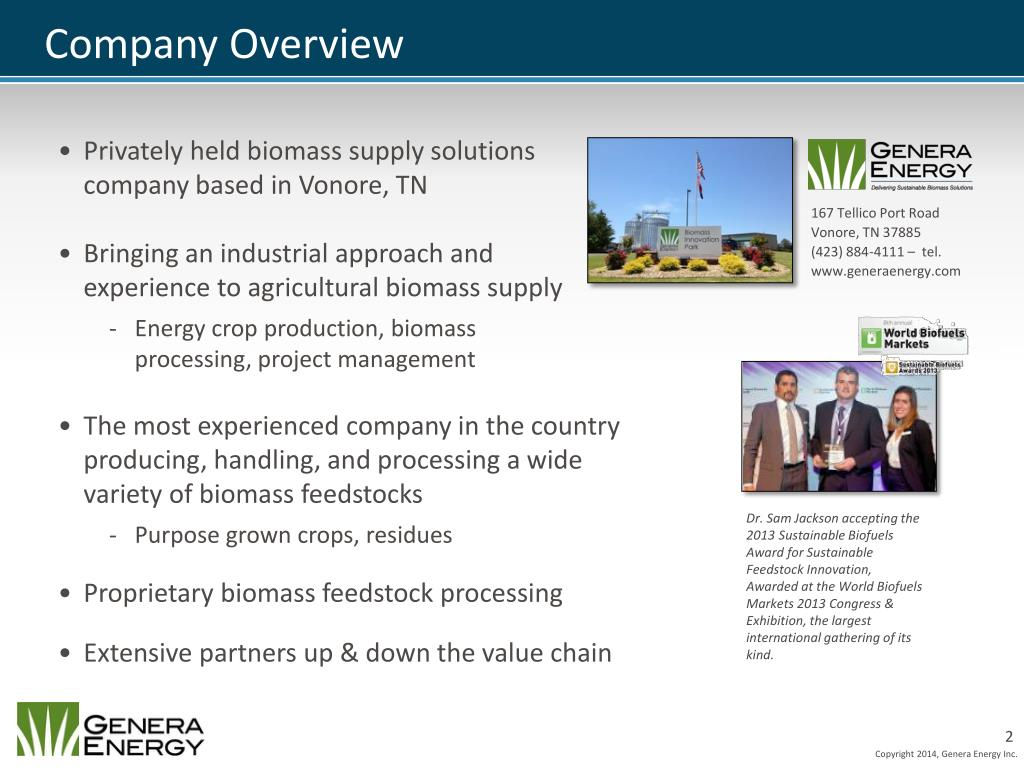 PPT - Removing Risk from the Biomass Supply Chain: Growing a