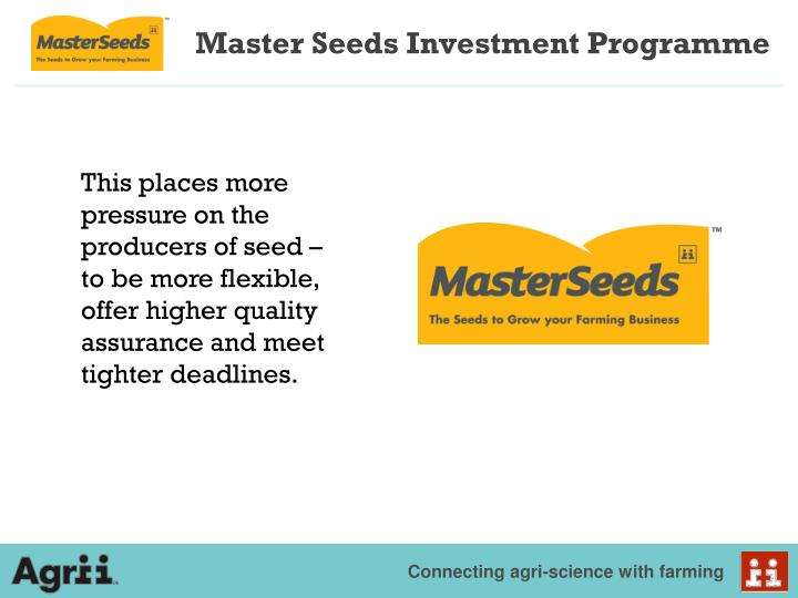 Master seeds investment programme1