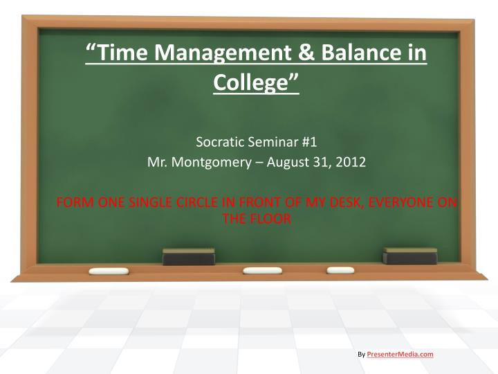 time management balance in college n.