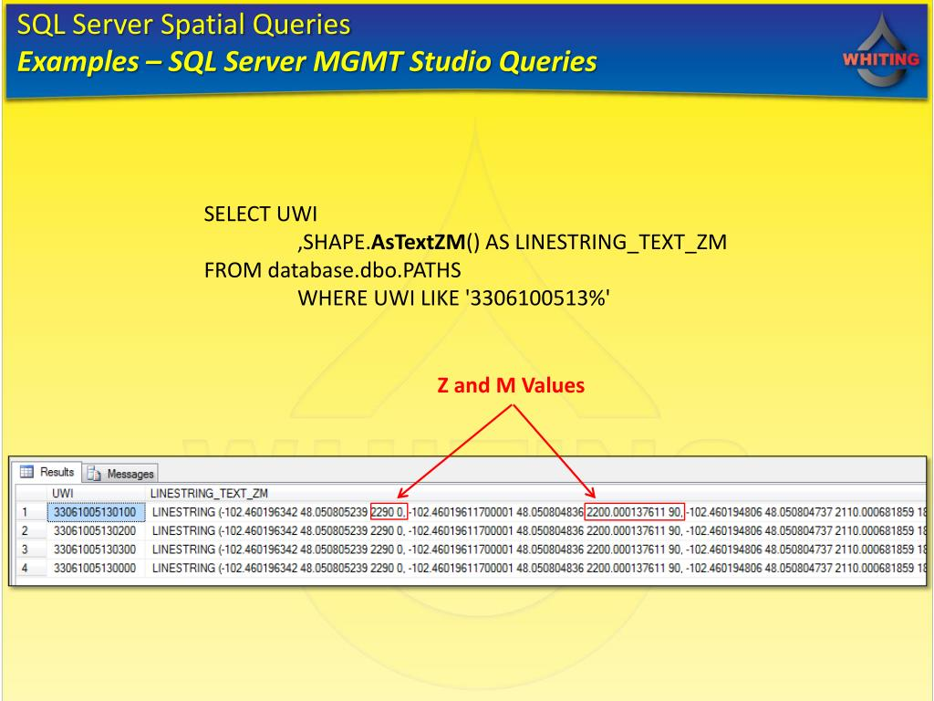 PPT - SQL Server Spatial & ArcSDE Chris Ebright - Whiting