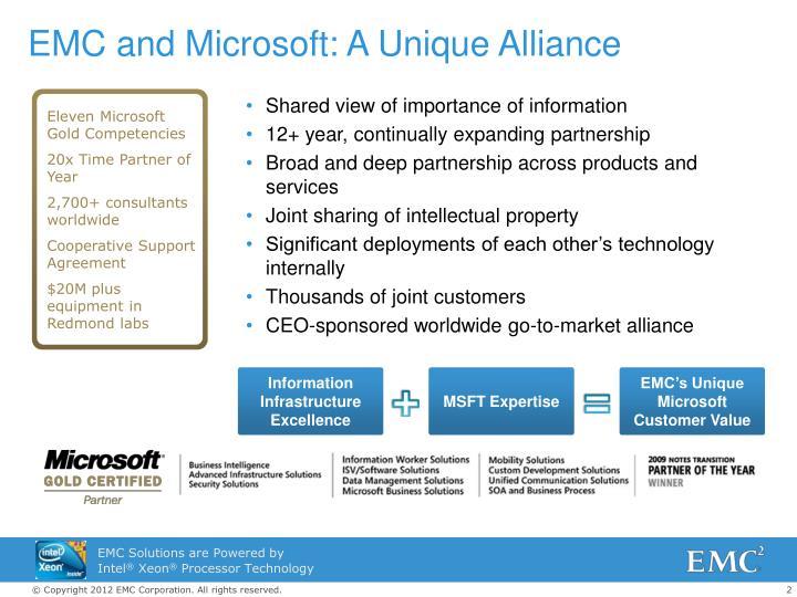 Emc and microsoft a unique alliance