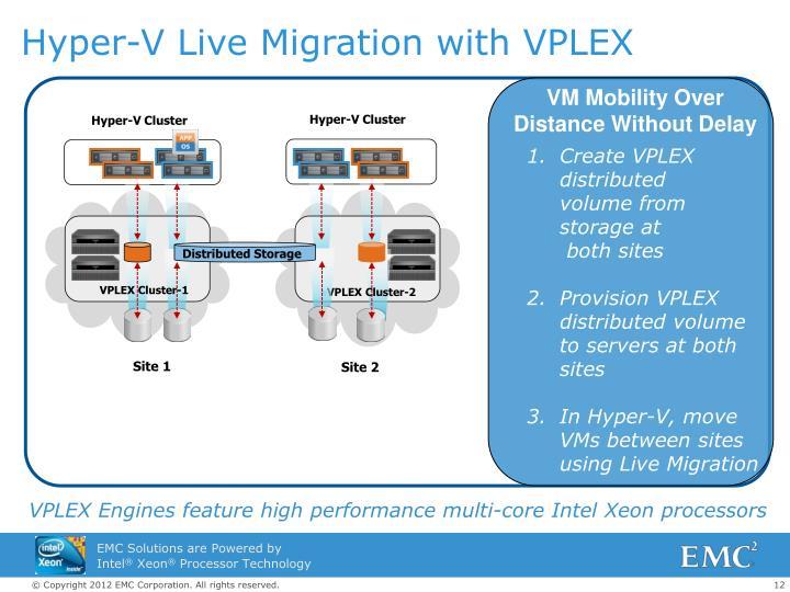 Hyper-V Live Migration with VPLEX