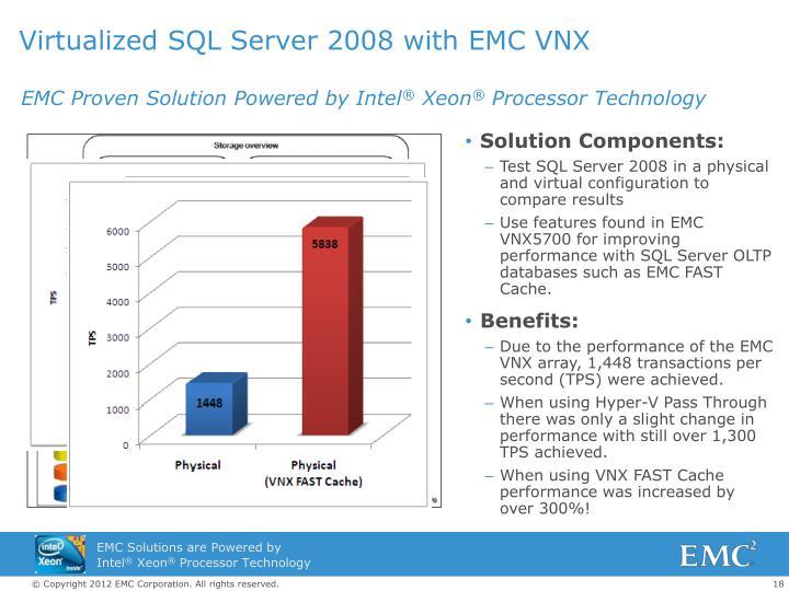 Virtualized SQL Server 2008 with EMC VNX