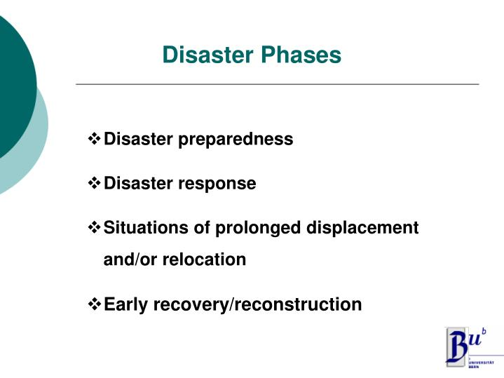 Disaster phases