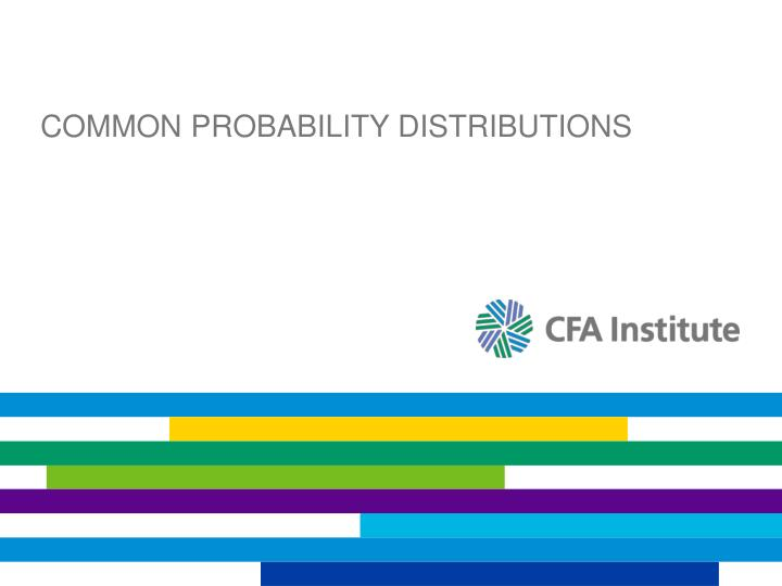 common probability distributions n.